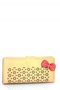 Faux Leather Clutch US1069 Beige