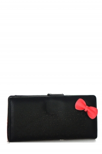Faux Leather Clutch US1069 Black