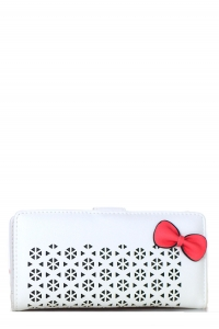Faux Leather Clutch US1069 White