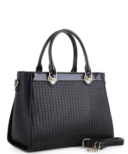 Guinness Patent Leather Bag US3130 BLACK