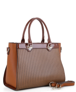 Guinness Patent Leather Bag US3130 BROWN