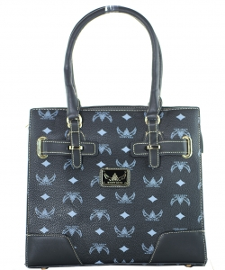 WK Collection Handbag W1002 BLACK