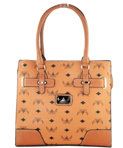 WK Collection Handbag W1002 BROWN