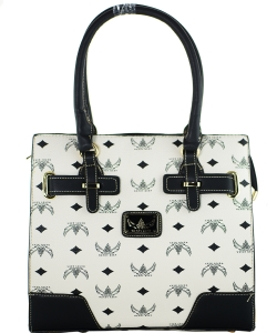 WK Collection Handbag W1002 WHITE