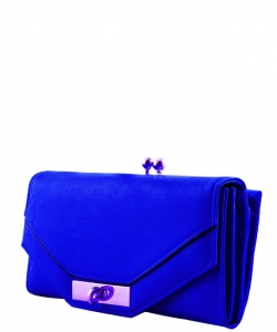 Trendy Designer Fashion Wallets W6099HS BLUE