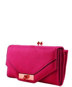 Trendy Designer Fashion Wallets W6099HS FUSHIA