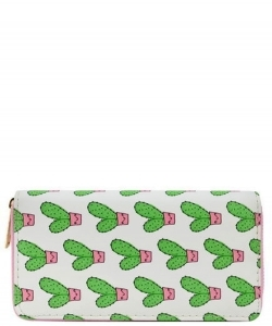 Designer Cactus Single Zip Around Wallet WA00541