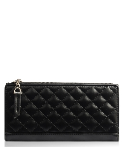 Nichole Quilted Wallet WA1758 BLACK