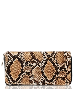 Isa Animal Fashion Print Wallet WA1761 BROWN
