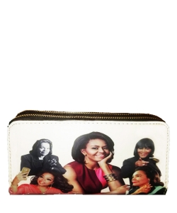 Michelle and African American Women Icons Wallet Collection WHITE