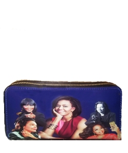 Michelle and African American Women Icons Wallet Collection BLUE