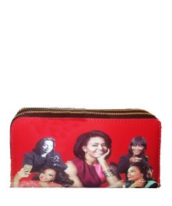 Michelle and African American Women Icons Wallet Collection RED
