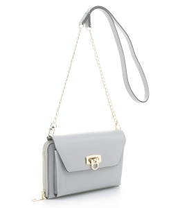 Fashion Cell Phone Purse Crossbody WC1157 GRAY