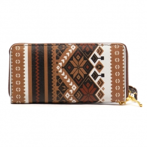 Native Pattern Wallet X95 WF2008 BROWN