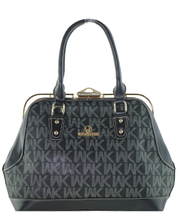 WK Collection Handbag WK0039 BLACK