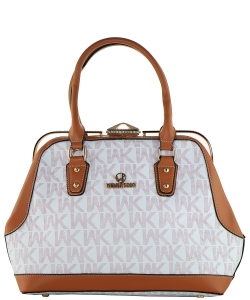 WK Collection Handbag WK0039 WHITE