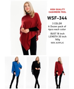 12 pcs of  Simple Fashion Poncho  WSF-344