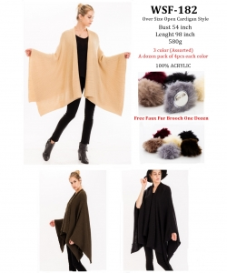 Styled Poncho  WSF-182 A Dozen pack