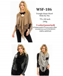 Styled Poncho  WSF-186 A Dozen pack