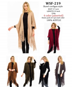 Styled Poncho  WSF-219 A Dozen pack