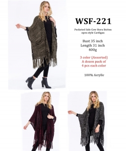 Styled Poncho  WSF-221 A Dozen pack