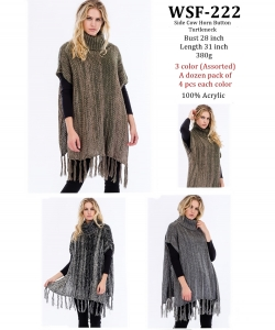 Styled Poncho  WSF-222 A Dozen pack