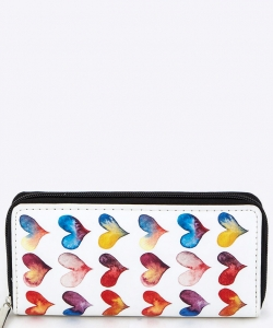 Hearts Pattern Wallet WT326X233