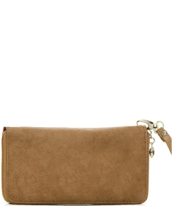 Faux Leather Wallet WU0005L Almond