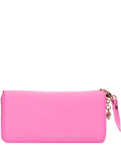 Faux Leather Wallet WU0005L Fuschia