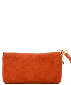 Faux Leather Wallet WU0005L Orange