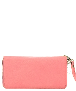 Faux Leather Wallet WU0005L Pink