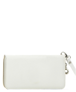 Faux Leather Wallet WU0005L White