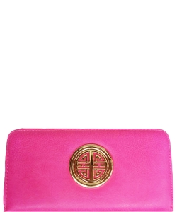 Simple Edge Zip Wallet WU0007L FUSCHIA
