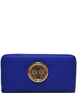 Simple Edge Zip Wallet WU0007L ROYAL BLUE