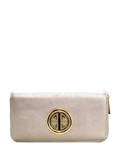 Fashion Logo Wallet WU0012L LT PEWTER