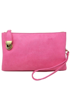 Womens Multi Compartment Functional Crossbody Bag WU020B PINK