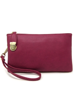 Womens Multi Compartment Functional Crossbody Bag WU020B BURGUNDY