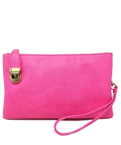 Womens Multi Compartment Functional Crossbody Bag WU020B FUSCHIA