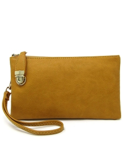 Womens Multi Compartment Functional Crossbody Bag WU020B MUSTARD