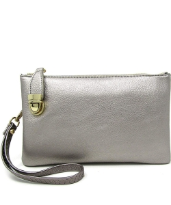 Womens Multi Compartment Functional Crossbody Bag WU020B PEWTER