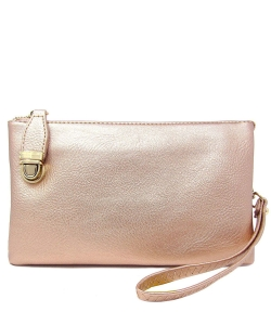 Womens Multi Compartment Functional Crossbody Bag WU020B ROSEGOLD