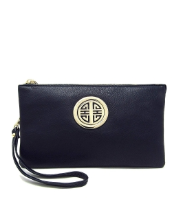 Womens Multi Compartment Functional Emblem Crossbody Bag With Detachable Wristlet WU020L DSEA