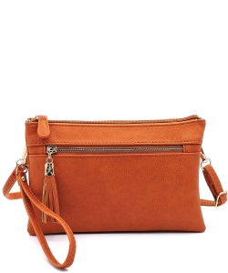 2 Compartments Messager Bag Designer  WU021 CARROT