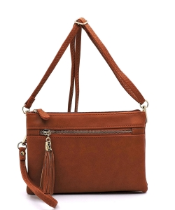 2 Compartments Messager Bag Designer  WU021 TAN