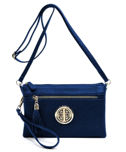 Fashion Logo Clutch Cross Body Bag & Waist Bag WU021L NAVY