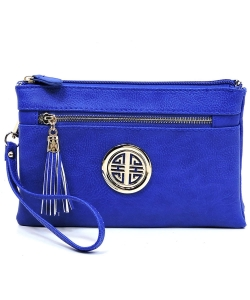 Fashion Logo Clutch Cross Body Bag & Waist Bag WU021L RBLUE