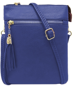 Fashion Multi Compartment Cross Body Bag WU022 NAVY