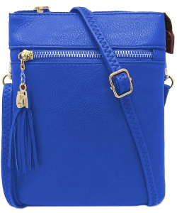 Fashion Multi Compartment Cross Body Bag WU022 RBLUE