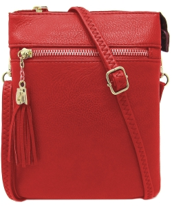 Fashion Multi Compartment Cross Body Bag WU022 RED