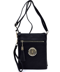 Fashion Logo Hipster Cross Body Bag WU022L BLACK
